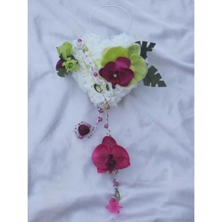 Bouquet coeur des orchidées