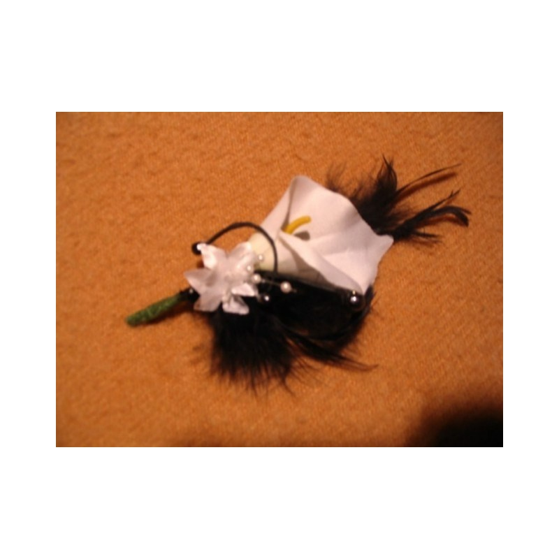 Lot Mariage Bouquet Mari E Et 3 Boutonni Res Arums Noir Et Blanc Bouquet De La Mariee