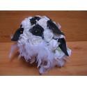 Bouquet de la Mariée Cascade esprit Baroque avec des roses et perles