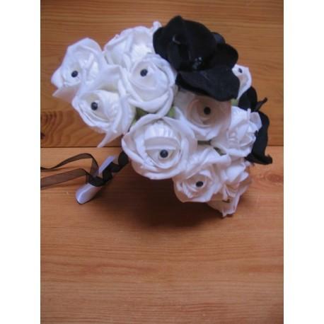 Bouquet coeur noir et blanc