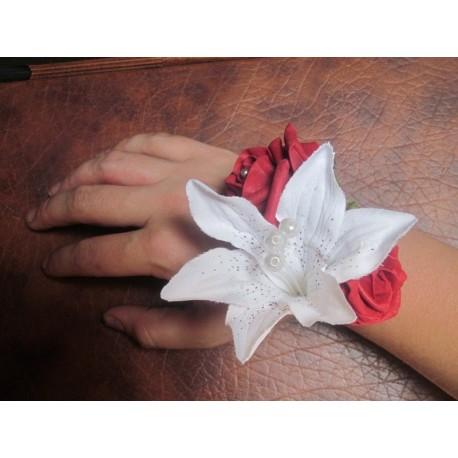 Bracelet roses et lys