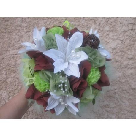 bouquet mariée chocolat anis
