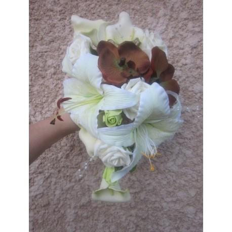 bouquet mariée chocolat anis arums