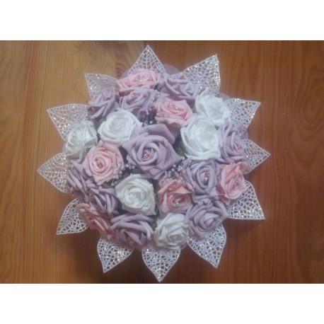bouquet mariée parme et rose