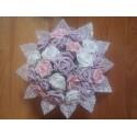 Bouquet de fleur de la mariée thème parme et rose avec diamants