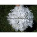 LOT bouquet de la mariée + boutonnière + demoiselle d'honneur