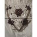 Bouquet de mariage Rond thème coeur au chocolat avec des roses