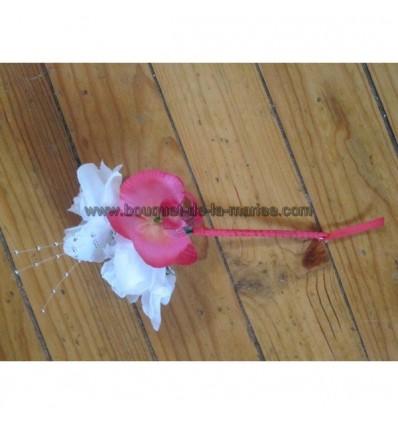 bouquet demoiselle d'honneur fushia orchidée