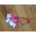 Bouquet demoiselle d'honneur pour mariage avec 1 orchidée fuchsia