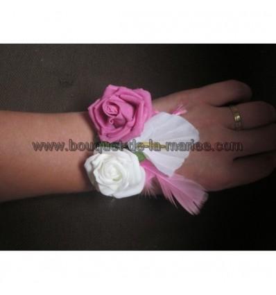 bracelet de roses et arums