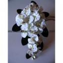 Bouquet de mariage re-tombant avec de belles orchidées blanches