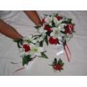 """Lot de bouquets """"chérie"""" disponible en plusieurs couleurs*avec roses, perles"""