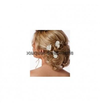 Orchidée epingle pour cheveux de mariée