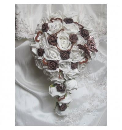 Bouquet chocolat coeurs et papillon