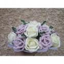PROMO Bouquet rond 22cm parme