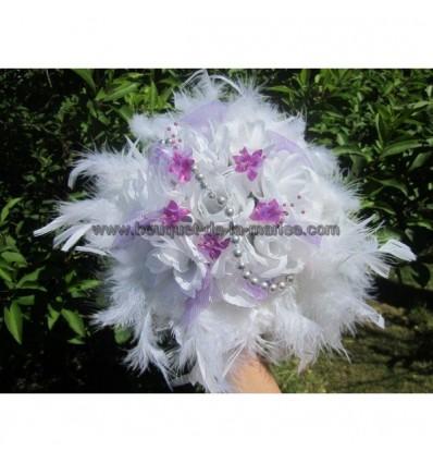 Bouquet mariee violet