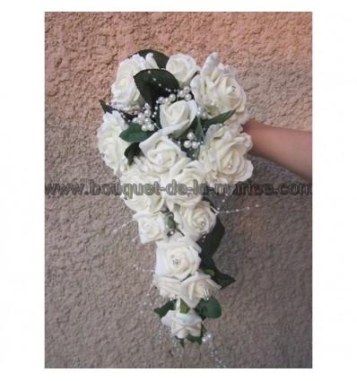 Bouquet mariée champagne ou ivoire