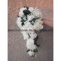 Promotion Bouquet mariage tombant thème Champagne ou ivoire