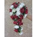 """Bouquet Mariage Cascade """"Lola"""" des roses et diamants fantaisies"""
