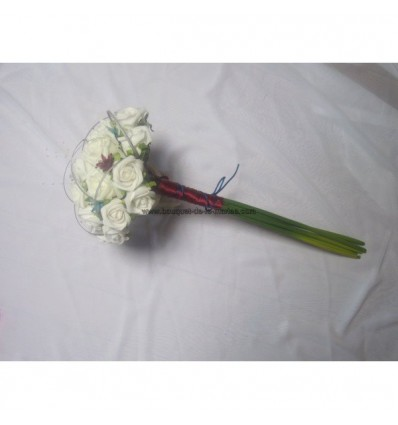 Bouquet tiges long ivoire argent