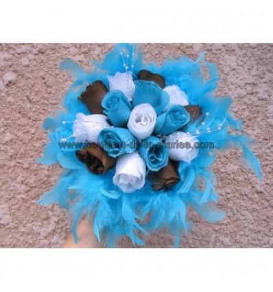 Bouquet tendance turquoise