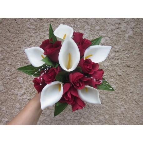 Bouquet mariée arums