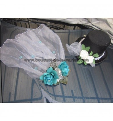Compositions turquoise pour mariage