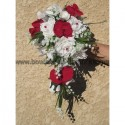 Majestueux Bouquet mariage Cascade Orchidée Rouge ou Bordeaux