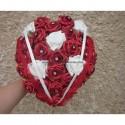 """Splendide Bouquet de fleurs """"Coeur"""" thème rouge ou bordeaux"""