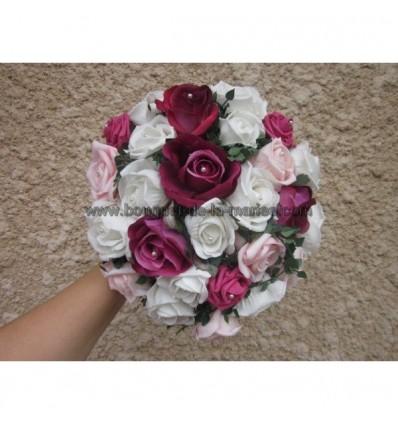 Bouquet mariée ROSE 28cm