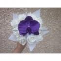 Bouquet demoiselle d'honneur avec roses et orchidée prune