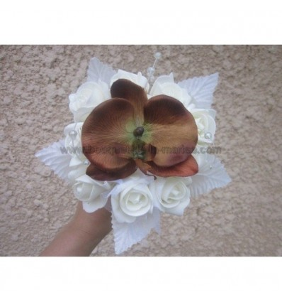 Bouquet demoiselle d'honneur orchidée chocolat