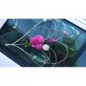 2 Magnifiques Cœurs de voiture de mariage avec des roses
