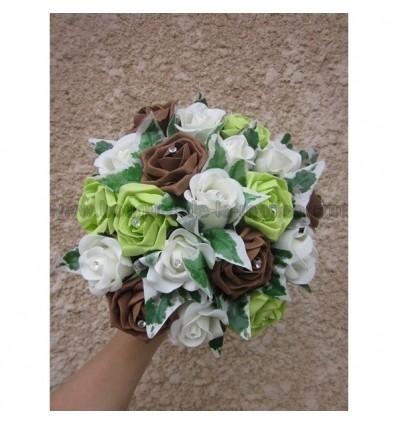 Bouquet et boutonnière chocolat et anis