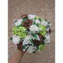 Bouquet de mariée Magnifique, boutonnière thème chocolat et anis
