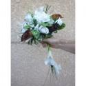 Bouquet de mariée Magnifique avec arums chocolat et belles roses