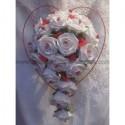 Commande Mariage: Bouquet de mariée, cœurs voiture sur ventouse