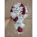 CHIC Bouquet de la Mariée Retombant avec Lys, Roses et Arums