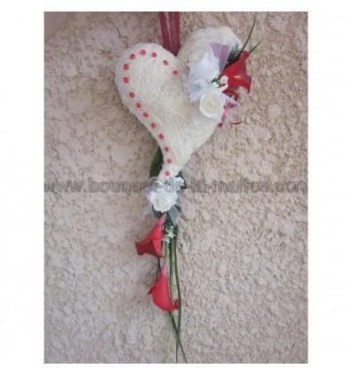 bouquet mariée coeur arums