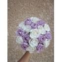 """Bouquet de mariage Rond """"Emma"""" avec roses et diamants fantaisie"""