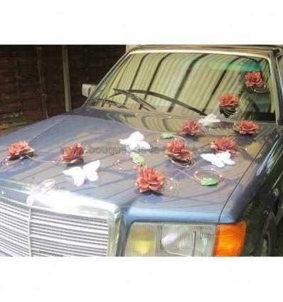 Décoration voiture papillion chocolat