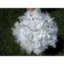 Bouquet Mariée Rond thème Etoiles de couleur blanc ou ivoire