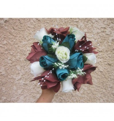 Bouquet turquoise et chocolat