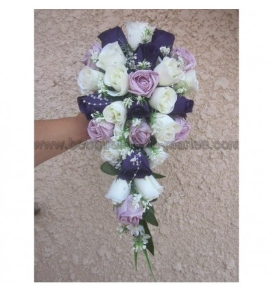 Bouquet parme et prune