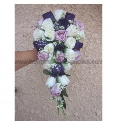 Bouquet parme et prune
