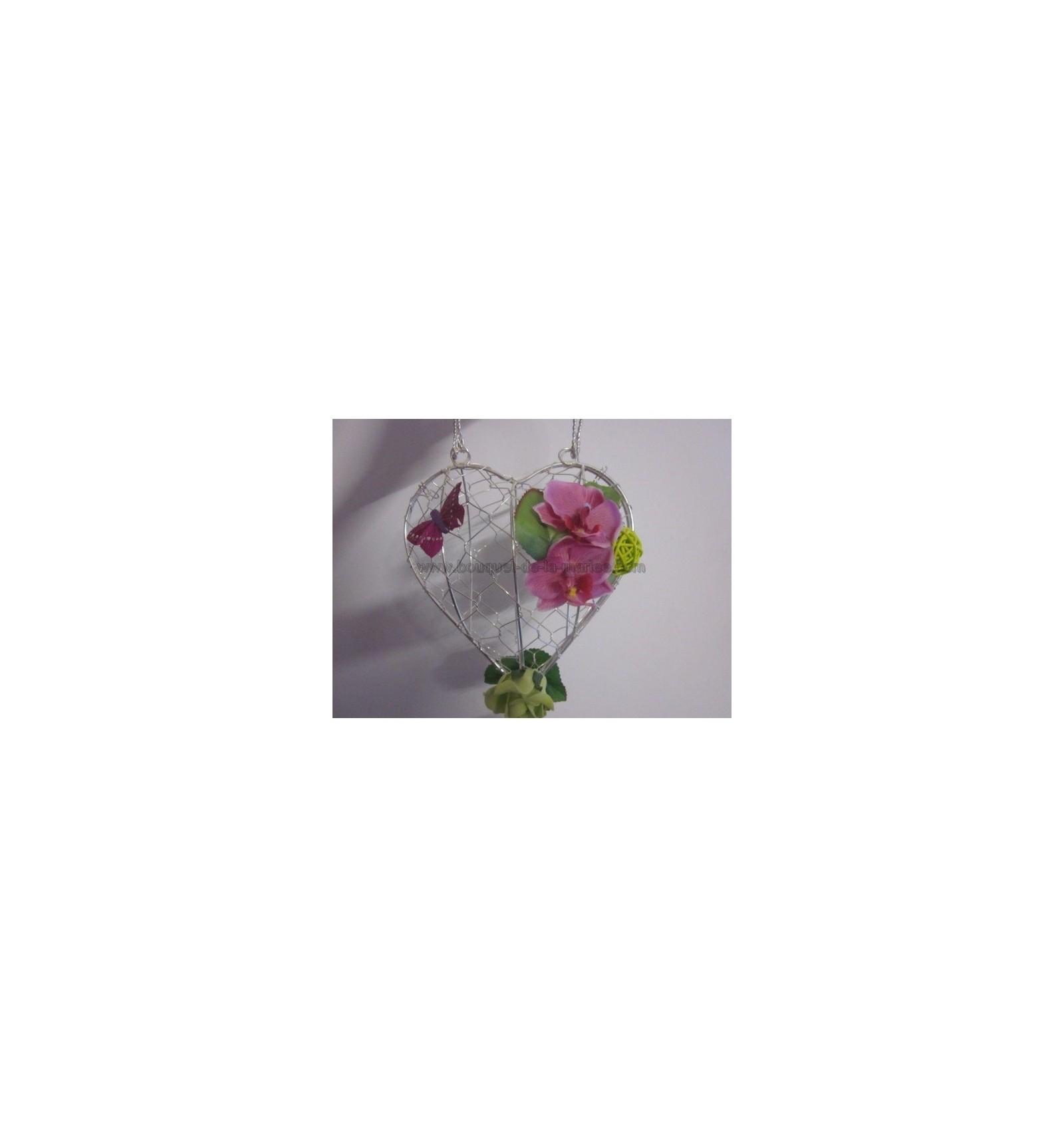 bouquet sac à main en forme de cœur pour mariage - bouquet-de-la-mariee