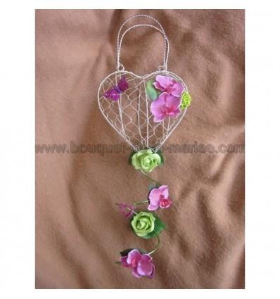 Bouquet sac a main en forme de coeur
