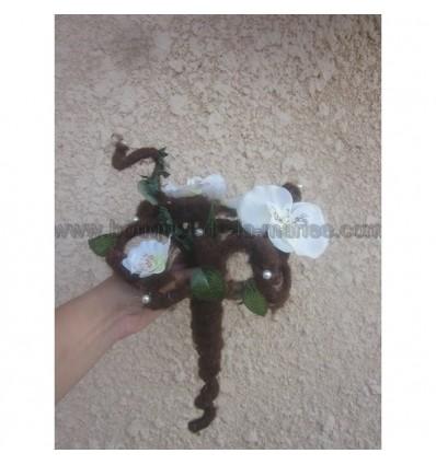 Bouquet rond pour mariage theme forêt