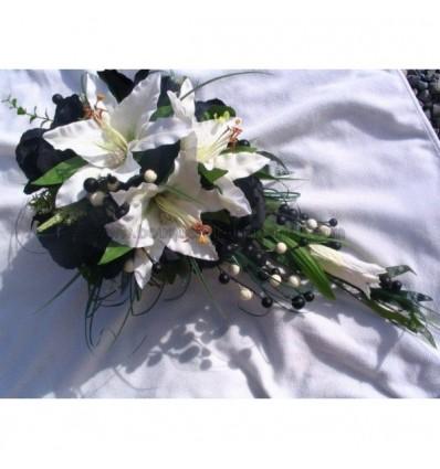 bouquet de mariage lys noir