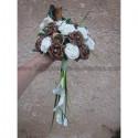 Bouquet de Mariage Style thème Arums et Roses Chocolat,diamants